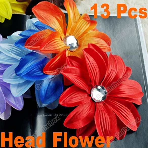 13pcs GIRL Cute Baby Girl Lady Crystal Tropical Lily Head Flower Hair